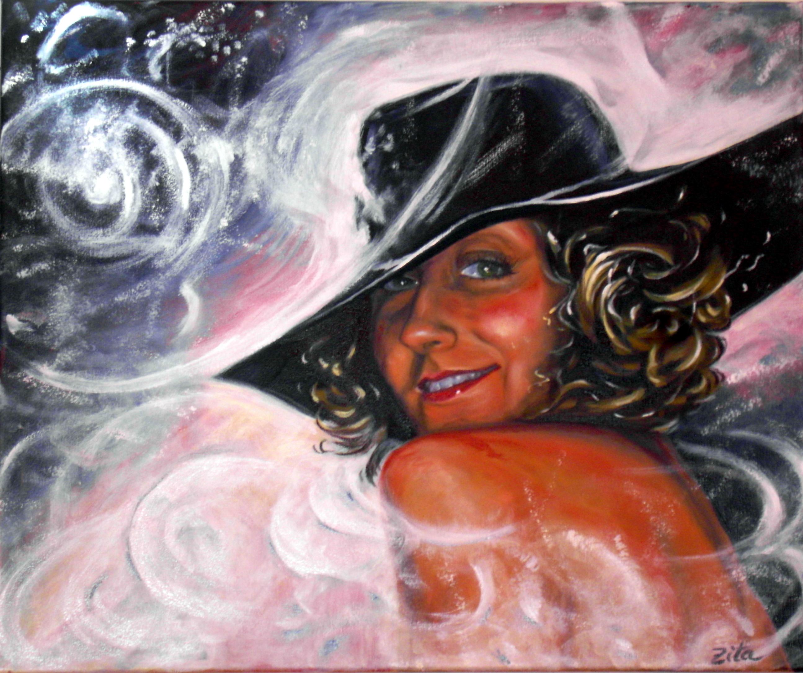 Gracias amiga, Zita Pinto, por este retrato y por captar y querer mi esencia!
